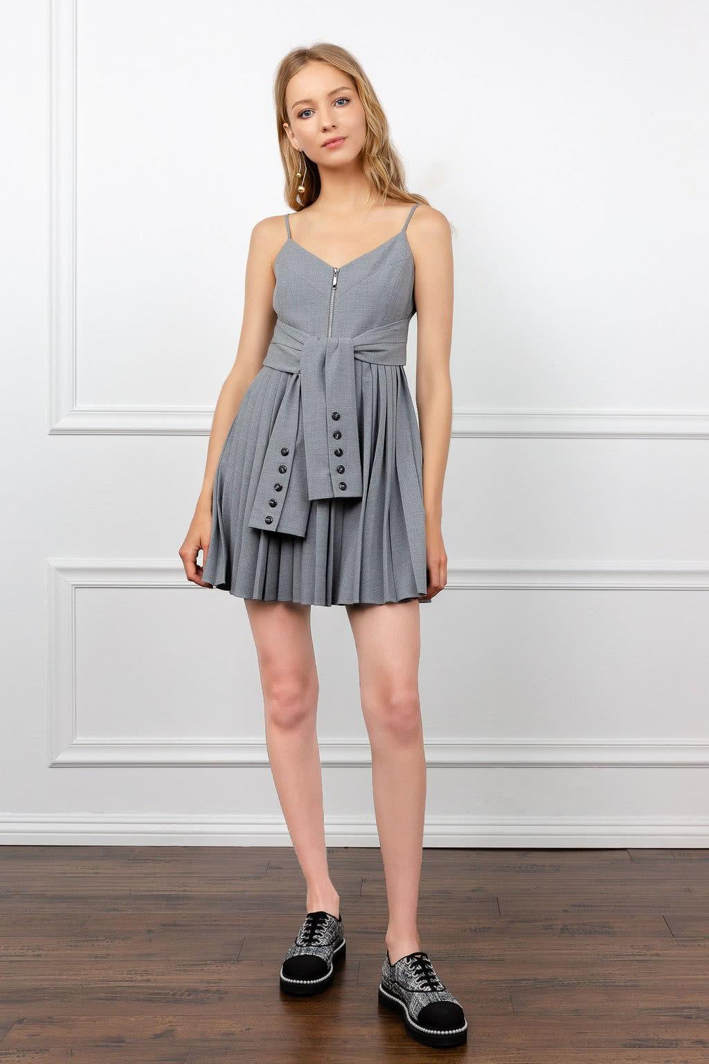 J.ING grey dress summer 2019 women - Luxe Digital