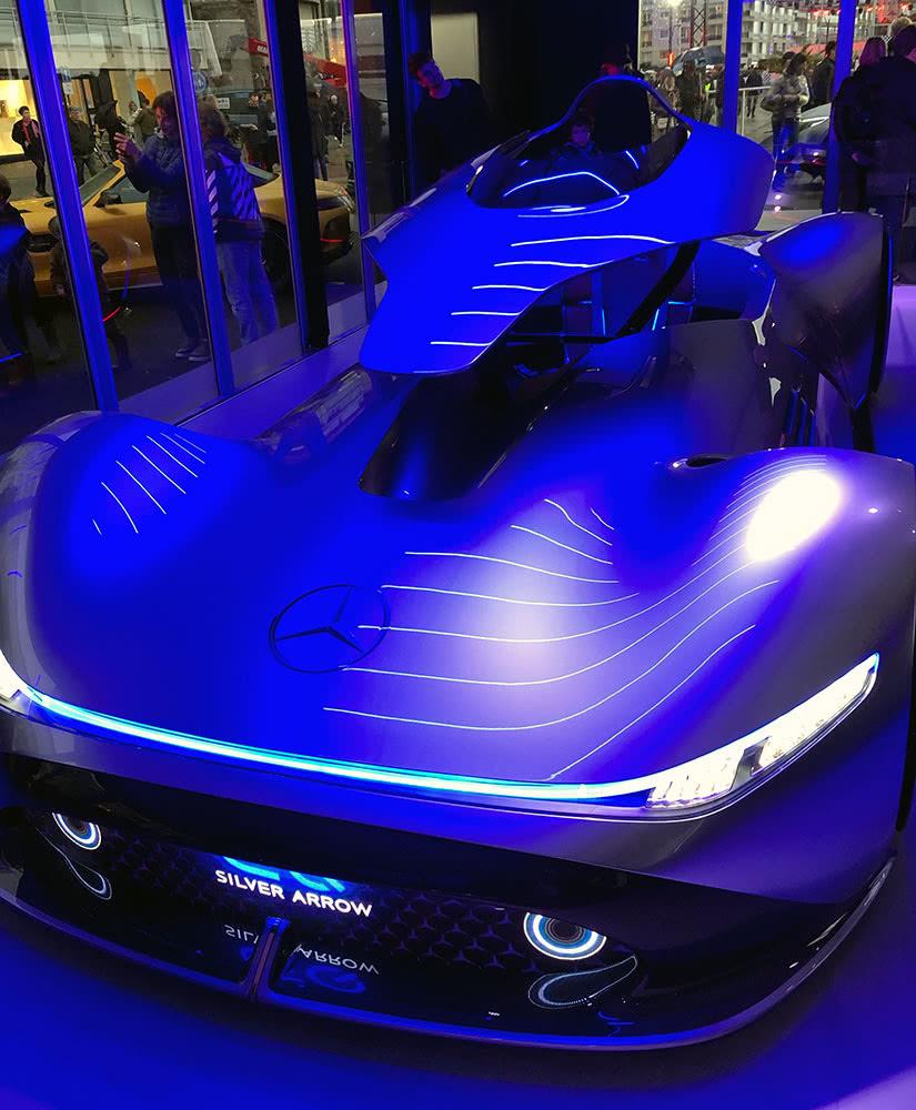 Mercedes-Benz Vision EQ Silver Arrow luxury cars - Luxe Digital