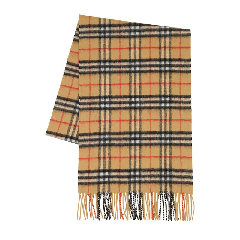 best luxury gift women Burberry cashmere check scarf - Luxe Digital
