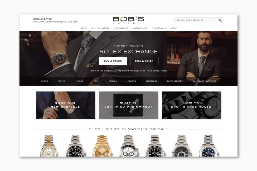 best luxury resale websites Bob's Watches - Luxe Digital