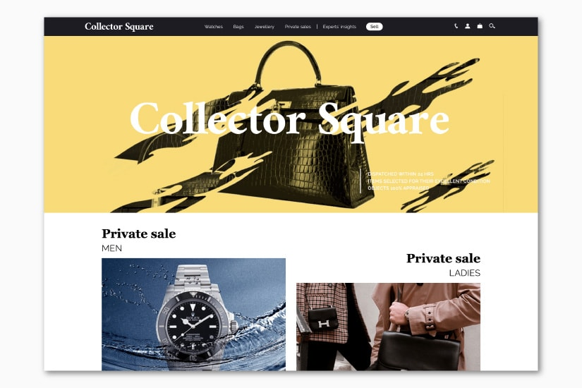 best luxury resale websites Collector Square - Luxe Digital