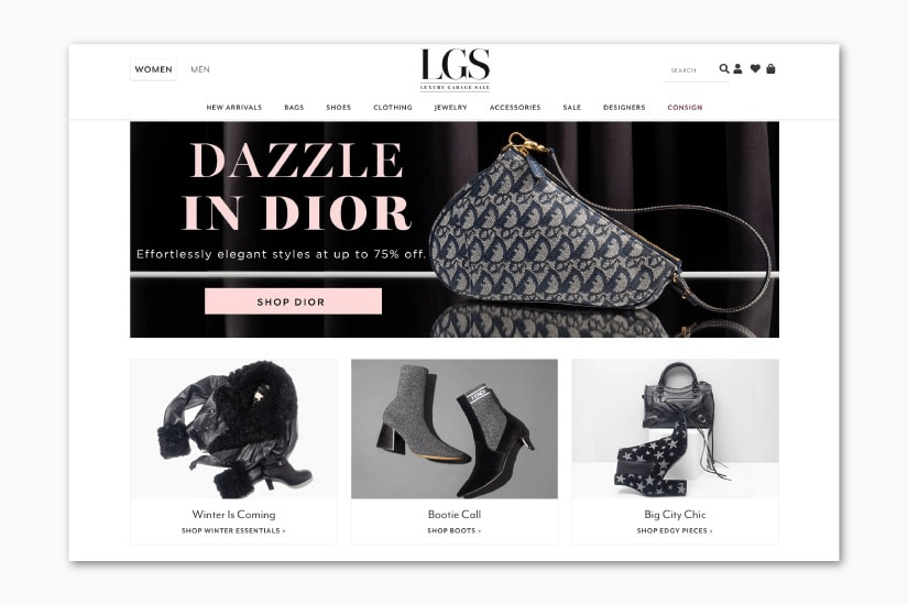 best luxury resale websites Luxury Garage Sale - Luxe Digital