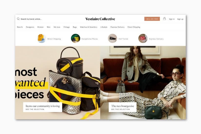 best luxury resale websites Vestiaire Collective - Luxe Digital