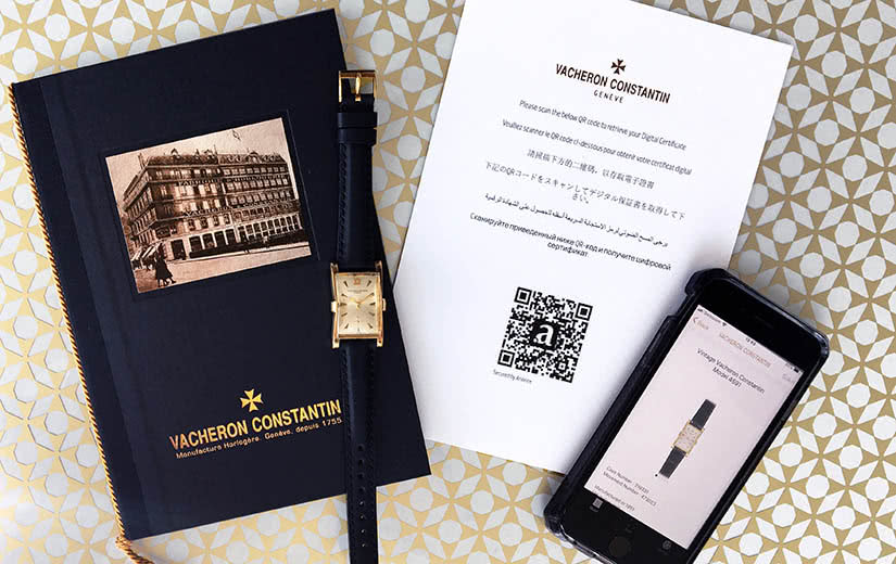 Vacheron Constantin blockchain tracking luxury resale - Luxe Digital