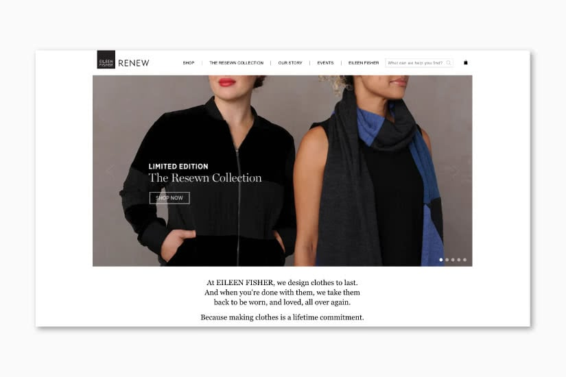 luxury resale retail transformation eileen fisher renew luxe digital