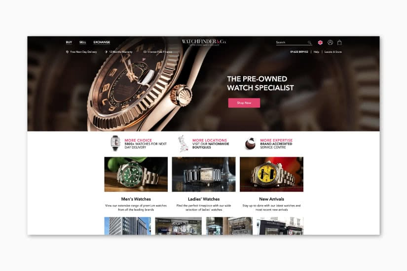 luxury resale retail transformation watchfinder luxe digital
