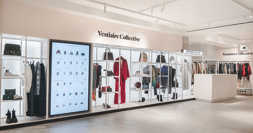 luxury resale retail transformation vestiaire collective store selfridges luxe digital