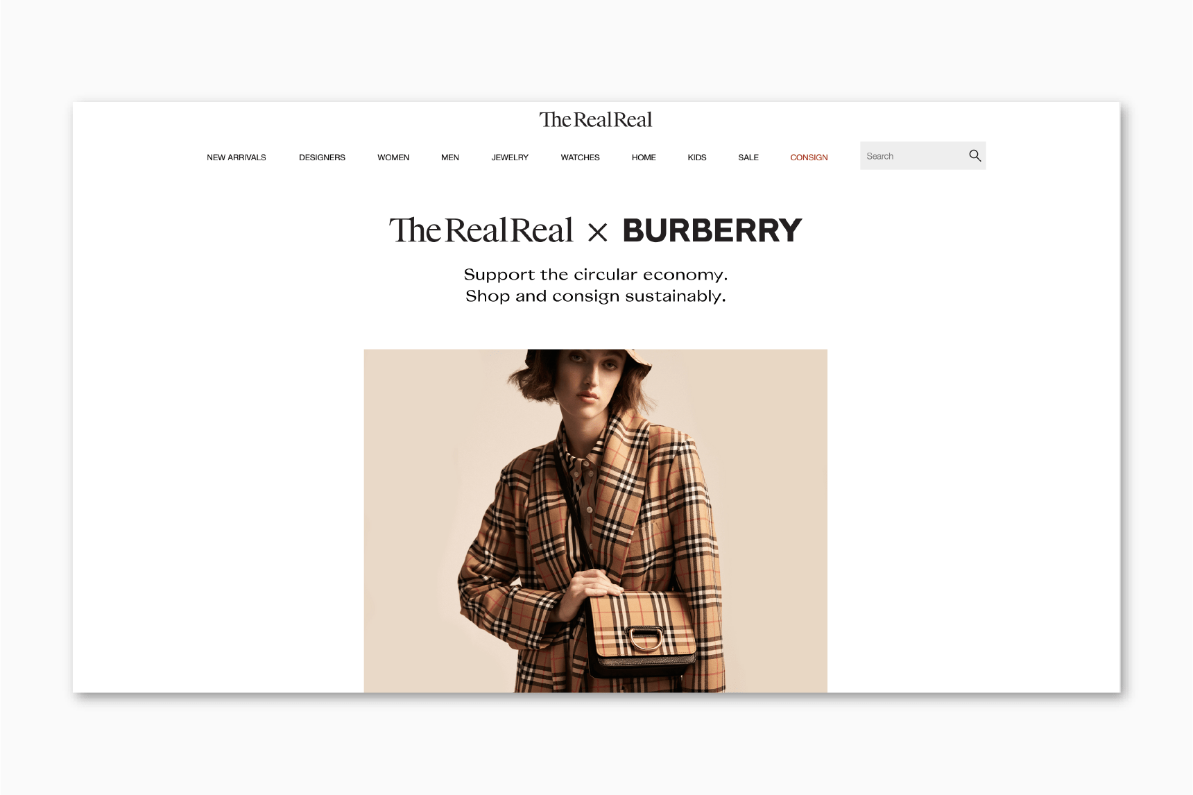 luxury resale retail transformation burberry the realreal luxe digital