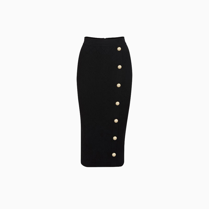 balmain pencil skirt women business casual style luxe digital