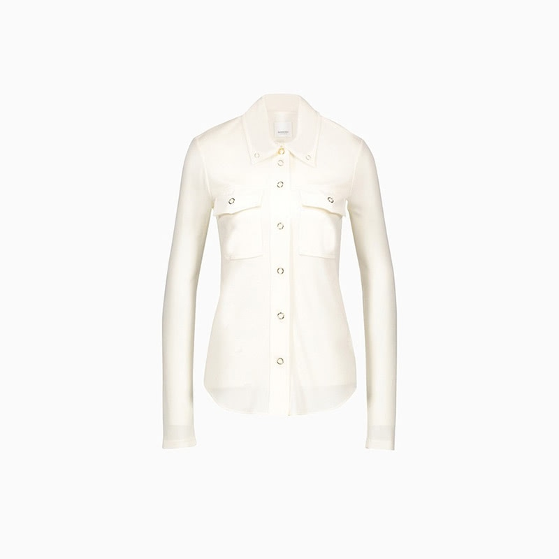 burberry top women business casual style luxe digital