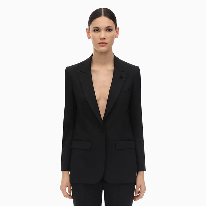 lardini blazer women business casual style luxe digital