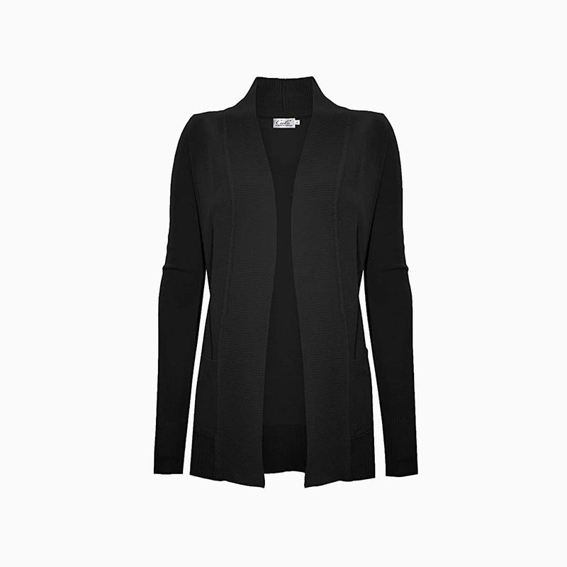 basic cardigan women business casual style luxe digital