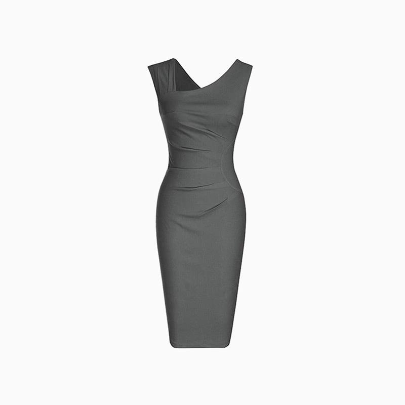 retro midi dress women business casual style luxe digital