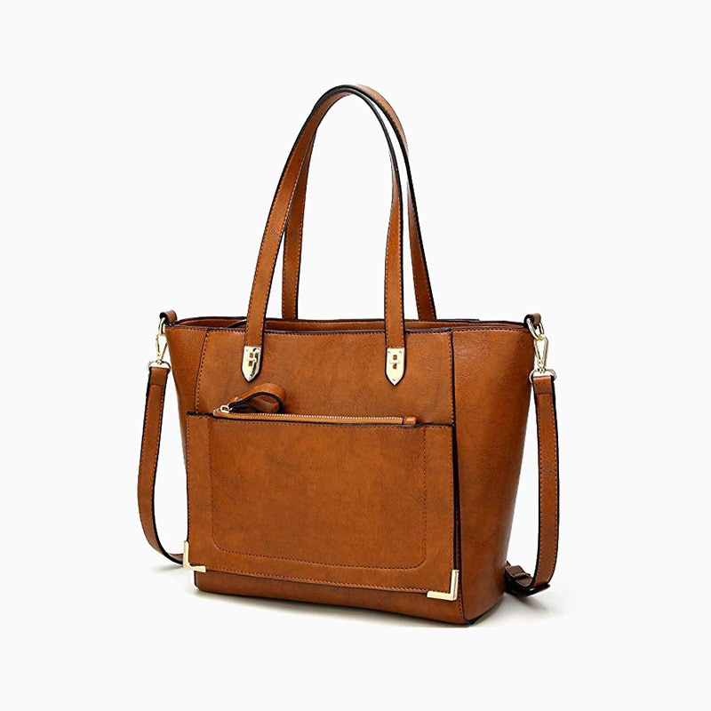 ynique leather tote bag women business casual style luxe digital