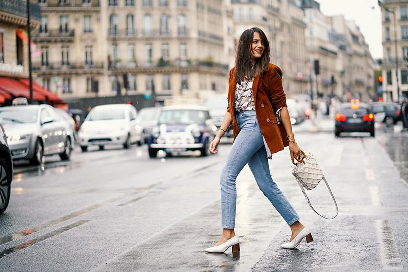 stylish denim workwear women business casual style luxe digital