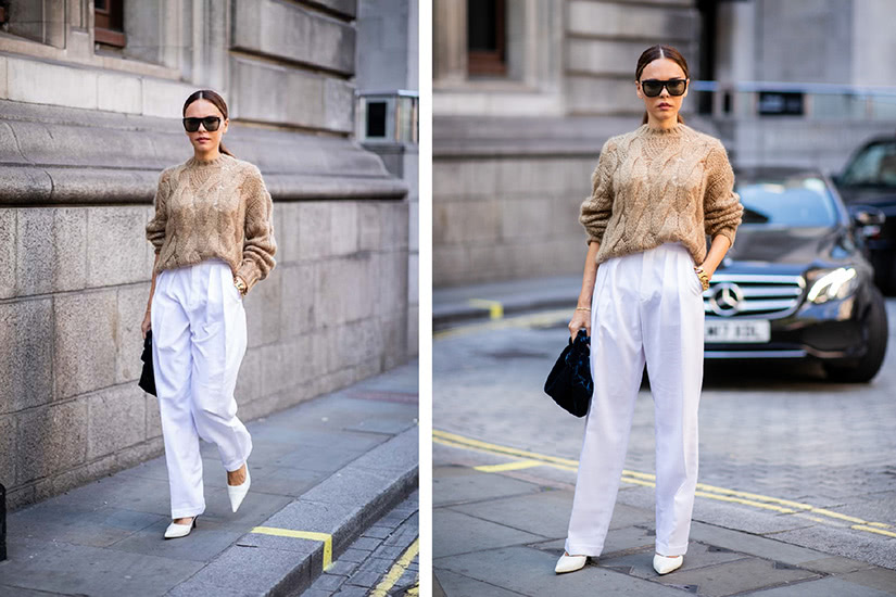 white trousers women business casual style luxe digital
