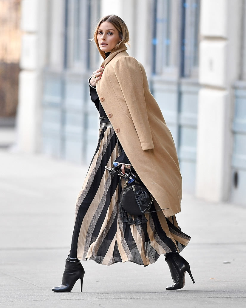 winter coat and skirt women business casual style luxe digital