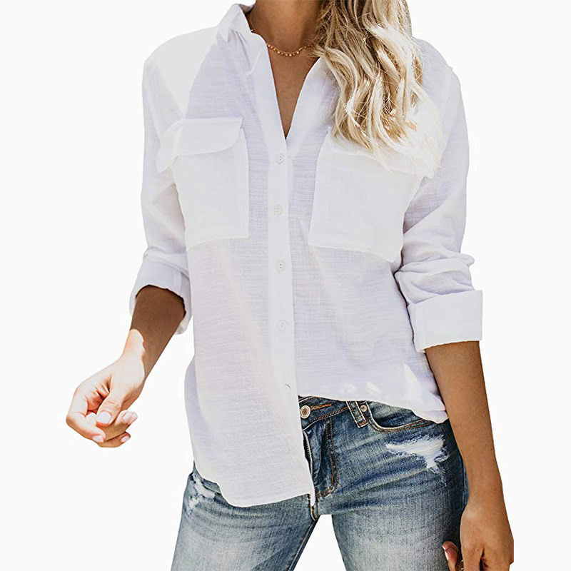 relaxed white shirt women business casual style luxe digital