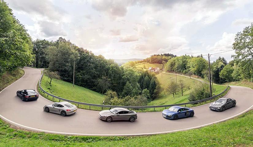 Verve Rally supercars Ferrari Lamborghini Porsche Snowdonia - Luxe Digital