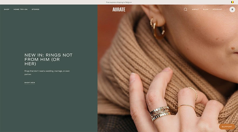 best digital native luxury dtc brands aurate luxe digital
