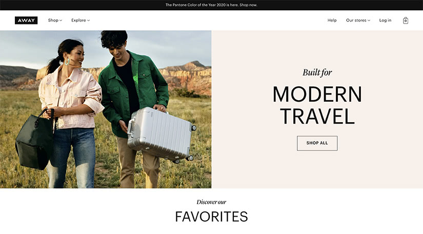 best digital native luxury dtc brands away travel luxe digital