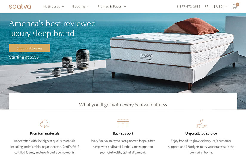 best digital native luxury dtc brands saatva mattress luxe digital