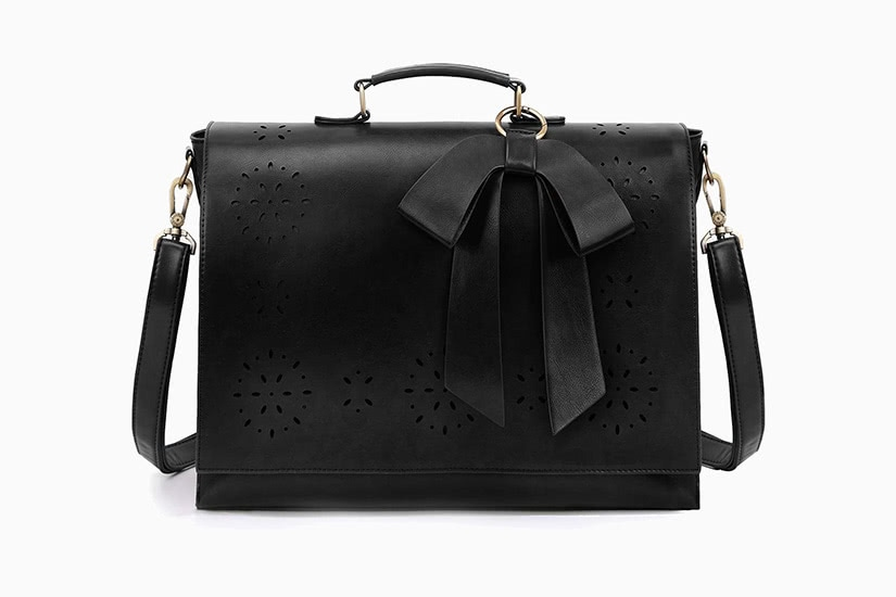 ecosusi pu detachable bow briefcase women designer work bags luxe digital