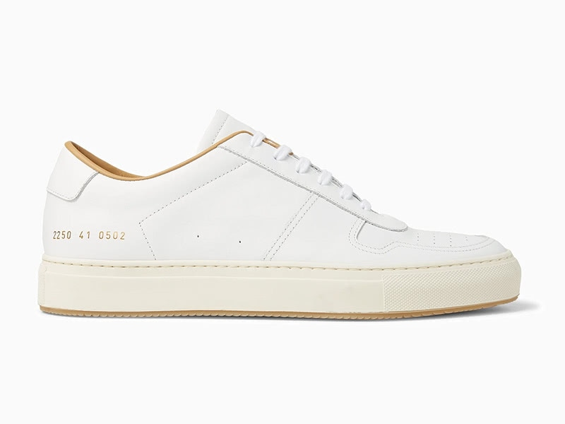 Common Projects BBall leather men minimalist sneakers - Luxe Digital