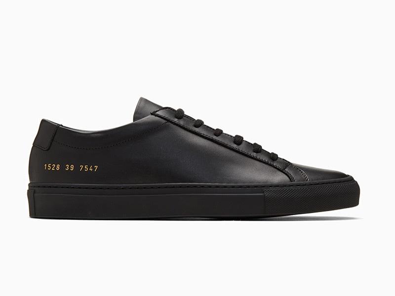 Common Projects black original achilles men sneakers - Luxe Digital