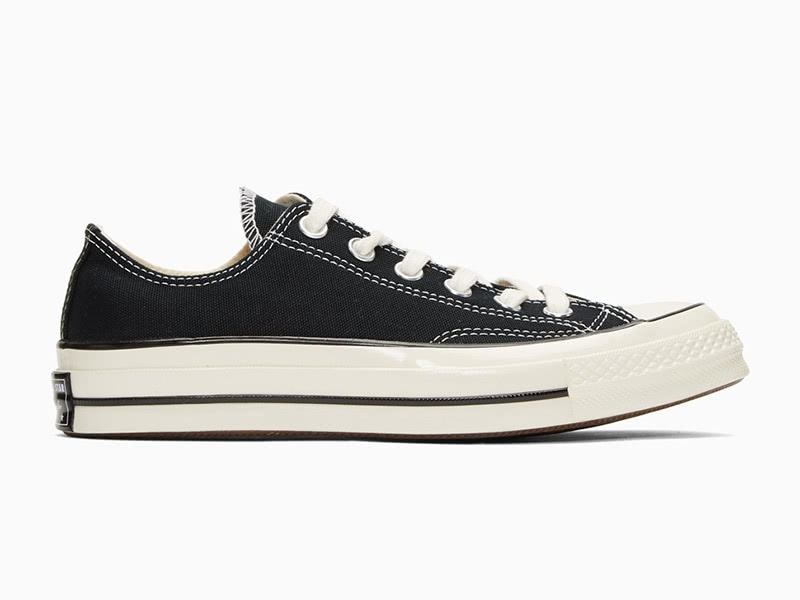 Converse black Chuck 70 low men classic sneakers - Luxe Digital