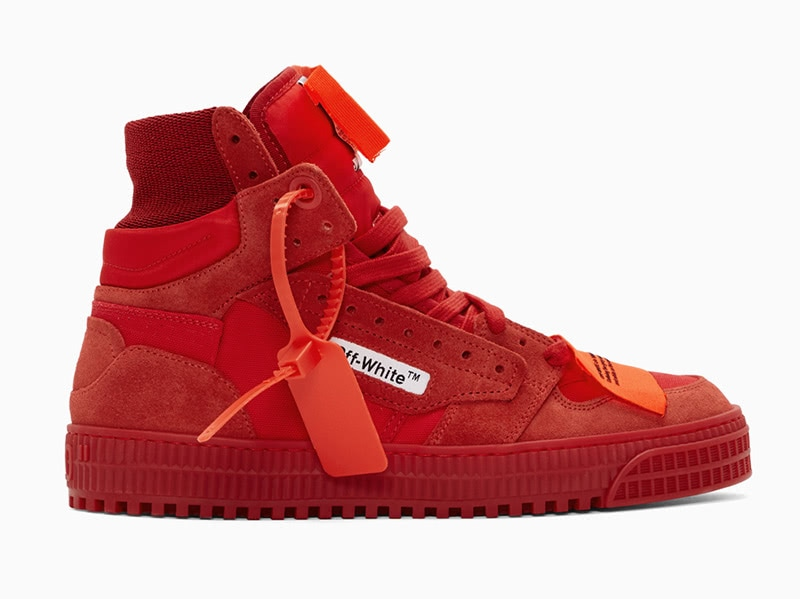 Off-White red off court men extravagant sneakers - Luxe Digital