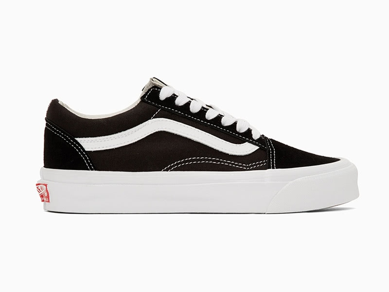 Vans black OG Old School sneakers versatile men - Luxe Digital