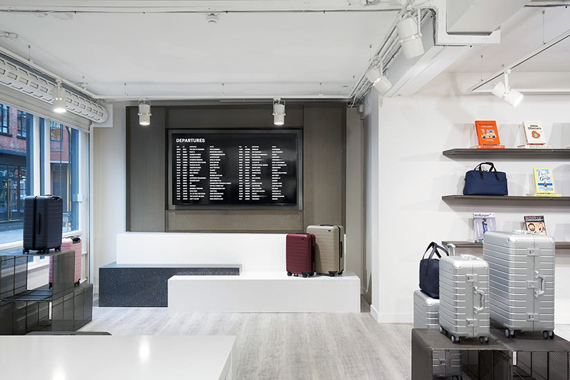 Away luggage store how digital native luxury brands open physical retail stores - Luxe Digital