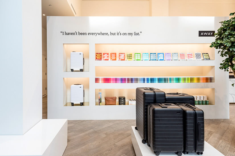 Away store how digital native luxury brands open physical retail stores - Luxe Digital
