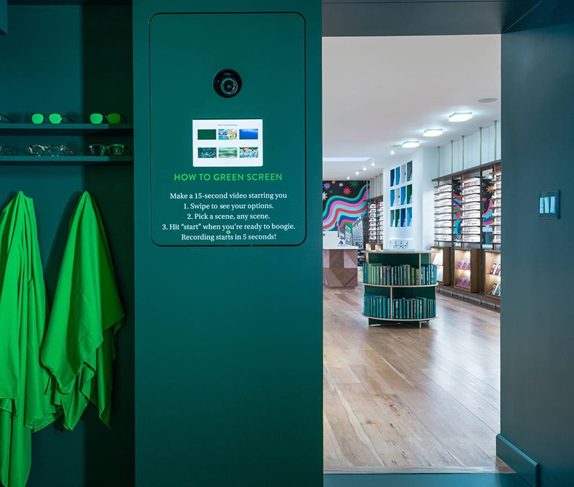 Warby Parker green room how digital native luxury brands open physical retail stores - Luxe Digital