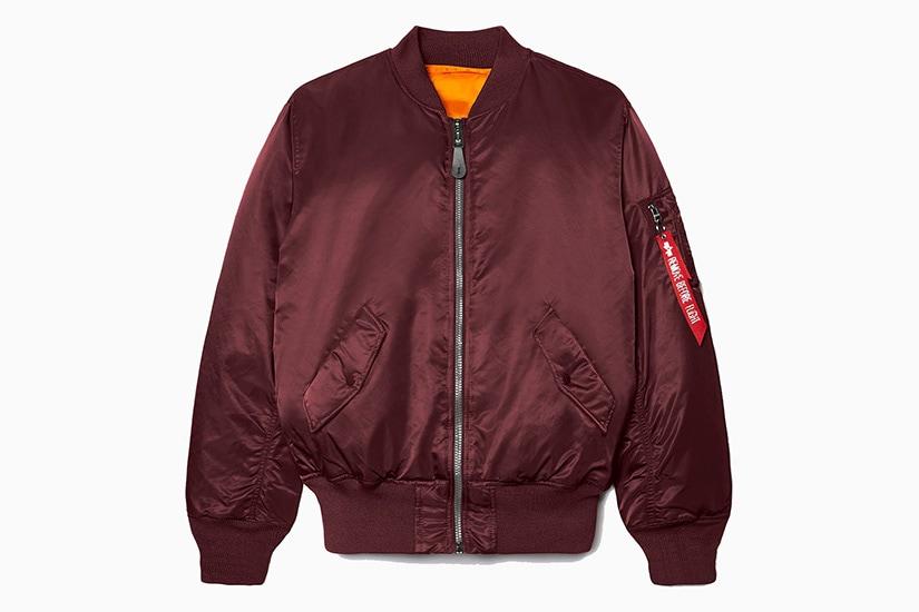 alpha industries ma-1 best burgundy bomber jacket men - Luxe Digital