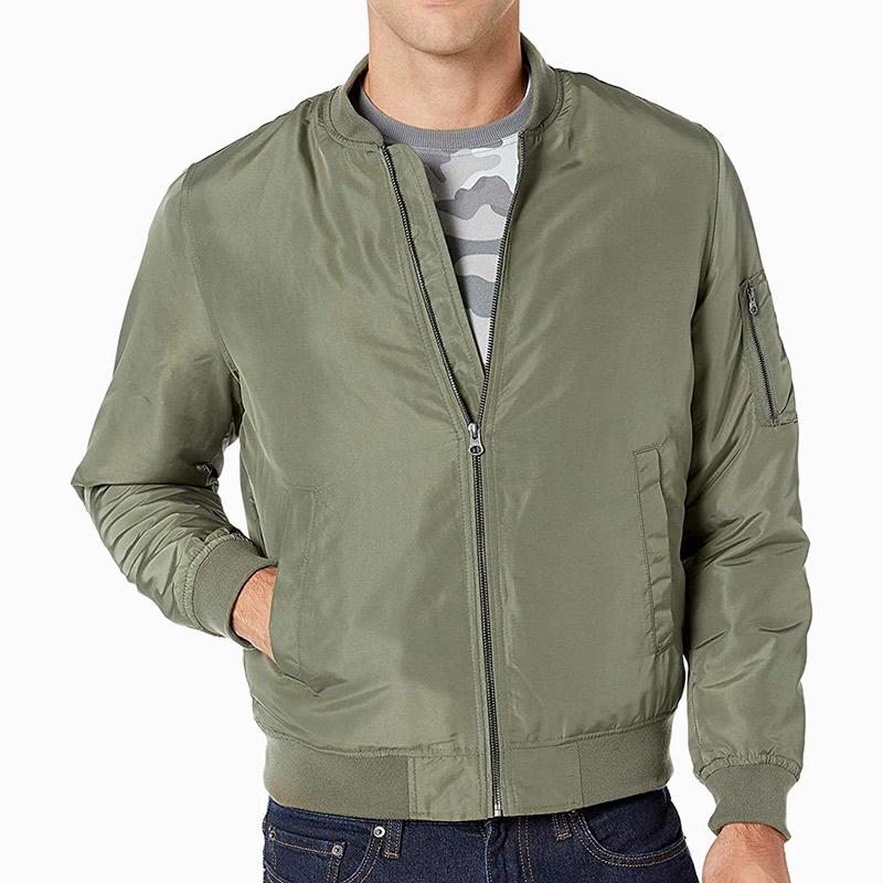 amazon essentials best olive bomber jacket men - Luxe Digital