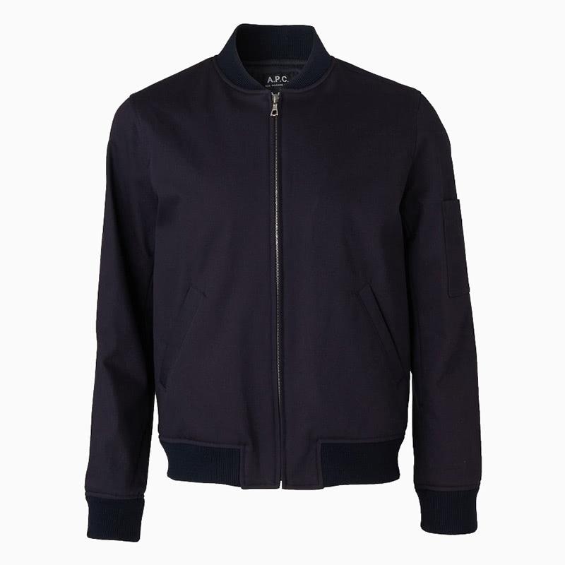 apc best blue bomber jacket men - Luxe Digital