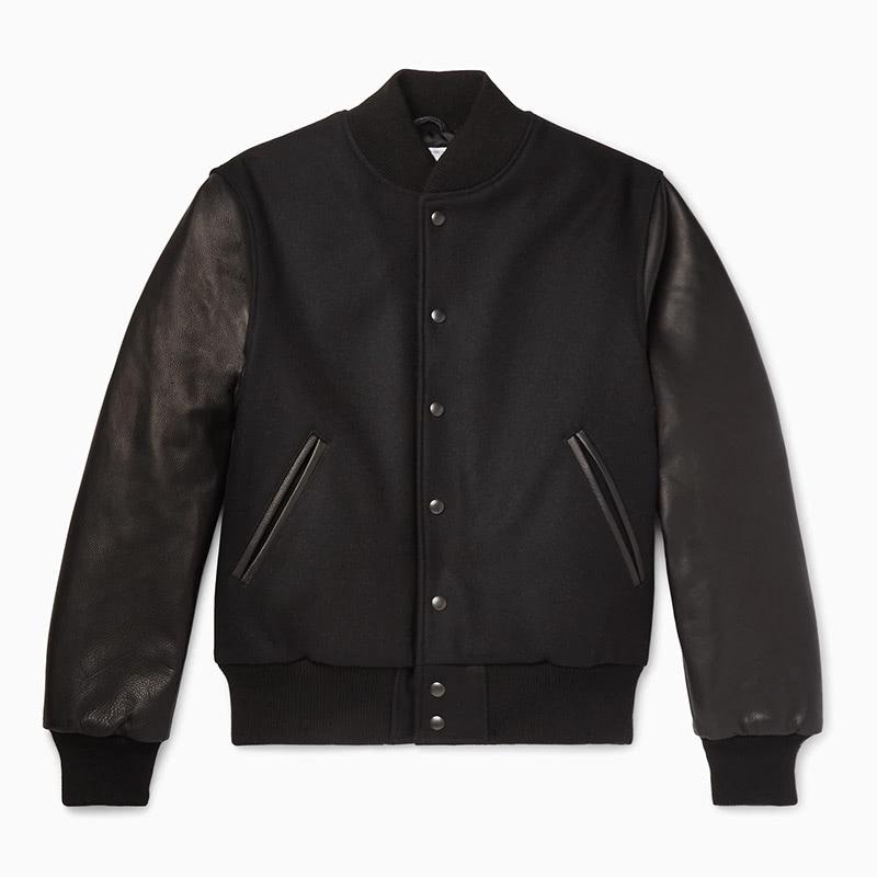 golden beer best black leather men bomber jacket - Luxe Digital