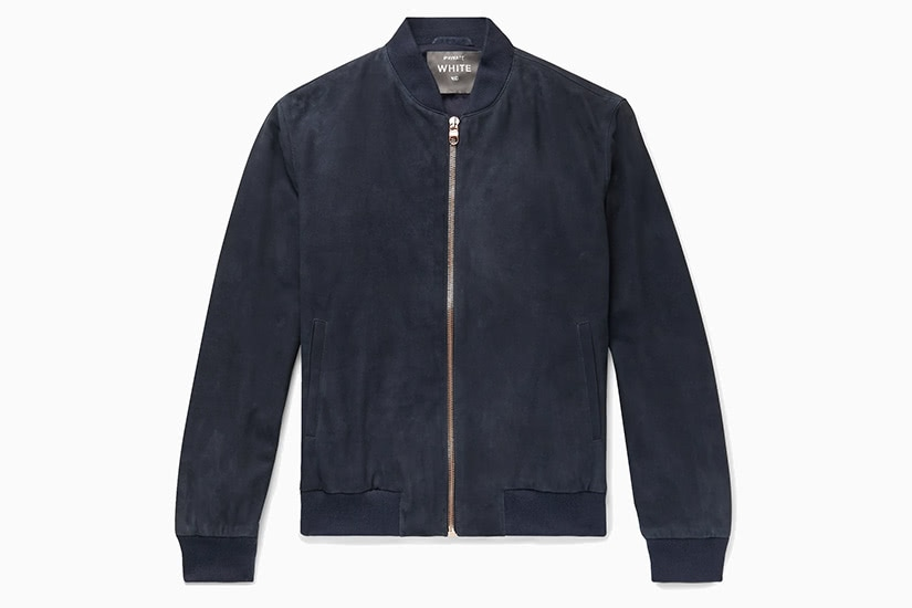 private white vc best blue bomber jacket men - Luxe Digital