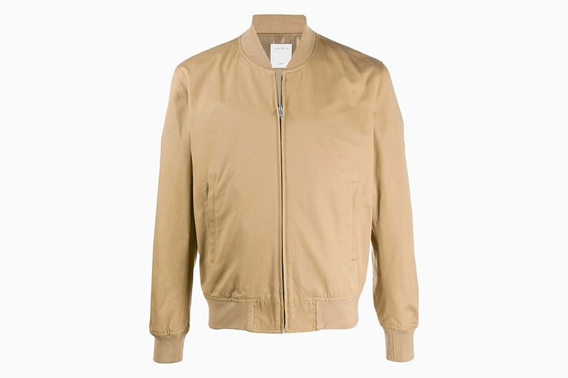 sandro paris best khaki bomber jacket men - Luxe Digital