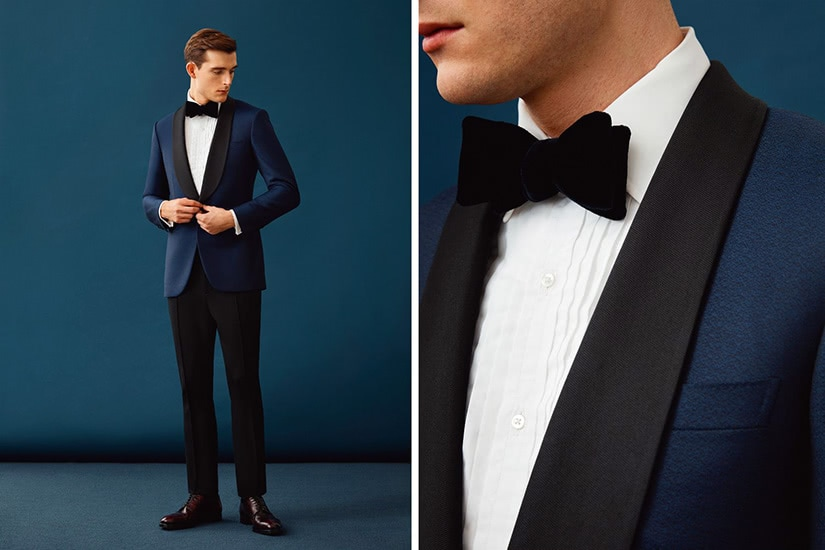 black tie dress code men blue jacket - Luxe Digital