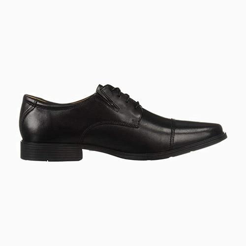 black tie men black oxford shoes clarks - Luxe Digital