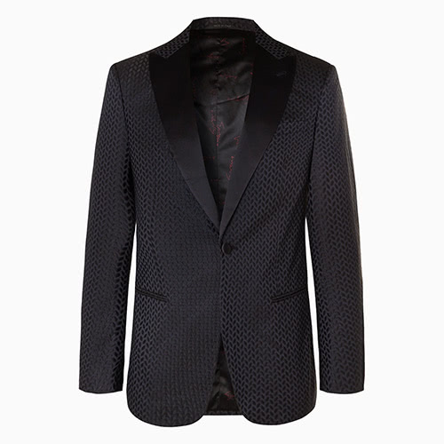 black tie men jacquard tuxedo jacket giorgio armani - Luxe Digital