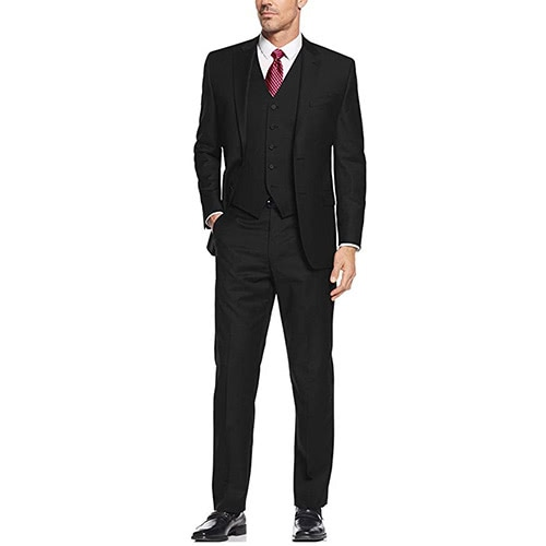 black tie men three piece suit - Luxe Digital