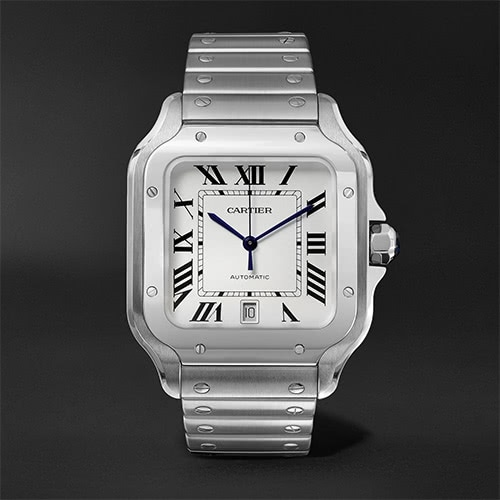 black tie men watch Cartier - Luxe Digital
