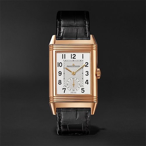 black tie men watch Jaeger LeCoultre - Luxe Digital