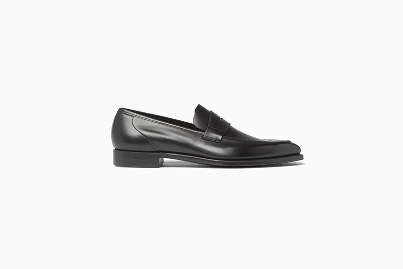 george cleverley leather penny loafer men shoes luxe digital