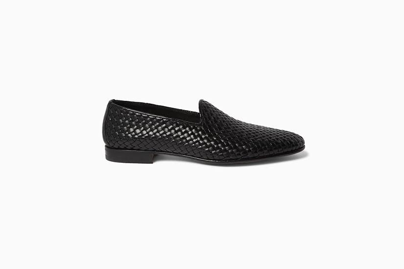 santoni woven leather loafer men shoes luxe digital