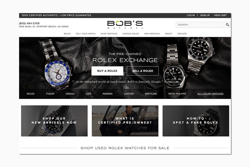 best women online shopping sites bob's watches - Luxe Digital